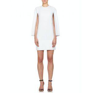 Givenchy Jewel-Neck Cape Sleeve Silk Dress 38
